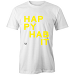 Happy Habit - Unisex White Fairtrade Organic Crew Tee