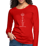 Good Karma Lives - Women's Premium Long Sleeve T-Shirt - red