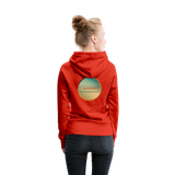 Happiness Lives - Women's Premium Hoodie - red