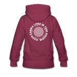 Good Karma - Women's Premium Hoodie - burgundy