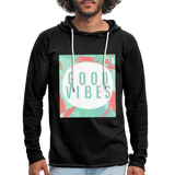 Good Vibes (Summer) - Unisex Lightweight Terry Hoodie - charcoal gray