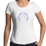 Good Vibes Happy Days - Womens Scoop Neck T-Shirt