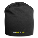 Think Happy. Be Happy - Jersey Beanie - black