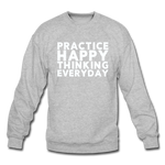 Happy Thinking - Crewneck Sweatshirt - heather gray