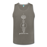 Good Karma Lives - Men's Premium Tank - asphalt gray
