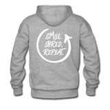Smile. Shred. Repeat - Men's Premium Hoodie - heather gray