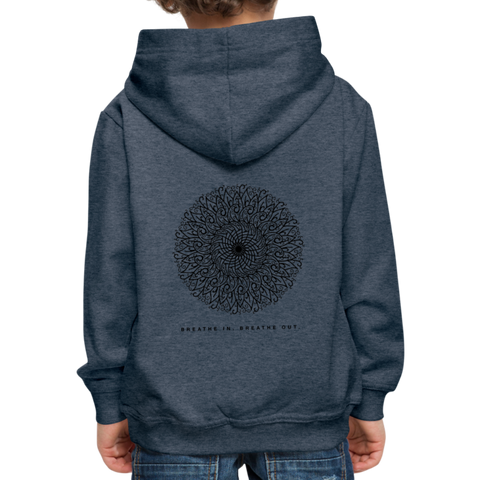 Breathe - Kids' Premium Hoodie - heather denim