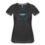 Good Vibes - Women's Premium T-Shirt - charcoal gray