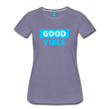 Good Vibes (Cool Blue) - Women's Premium T-Shirt - washed violet