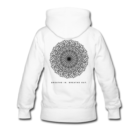 Breathe - Women's Premium Hoodie - white