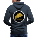 Breathe and Live Good Karma - Men's Premium Hoodie - navy