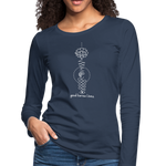 Good Karma Lives - Women's Premium Long Sleeve T-Shirt - navy