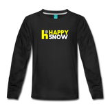 Happy Snow - Kids' Premium Long Sleeve T-Shirt - black