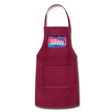Love & Happiness Forever - Adjustable Apron - burgundy