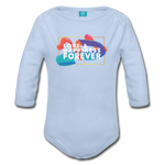 Love & Happiness Forever - Organic Long Sleeve Baby Bodysuit - sky