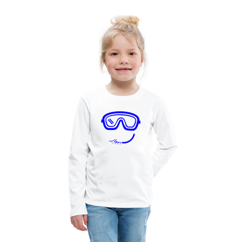 Happy (Goggles) - Kids' Premium Long Sleeve T-Shirt - white
