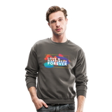 Love & Happiness Forever - Crewneck Sweatshirt - asphalt gray