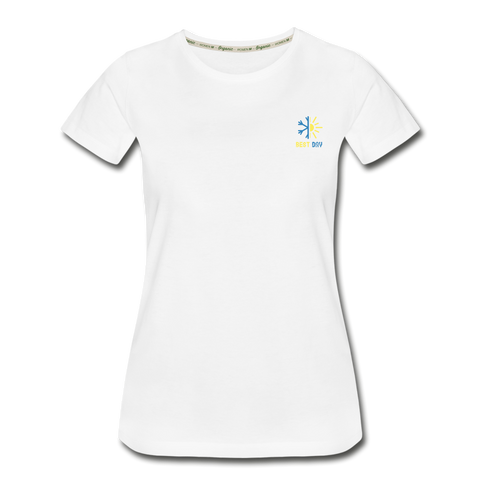 Best Day - Women's Premium Organic T-Shirt - white