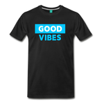 Good Vibes (Cool Blue) - Men's Premium T-Shirt - black
