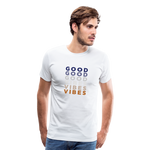 Repeat Good Vibes - Men's Premium T-Shirt - white
