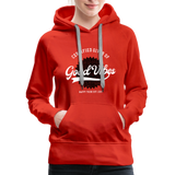 Good Vibes Giver - Women's Premium Hoodie - red