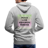 Peace Love Happiness Forever - Men's Premium Hoodie - heather gray