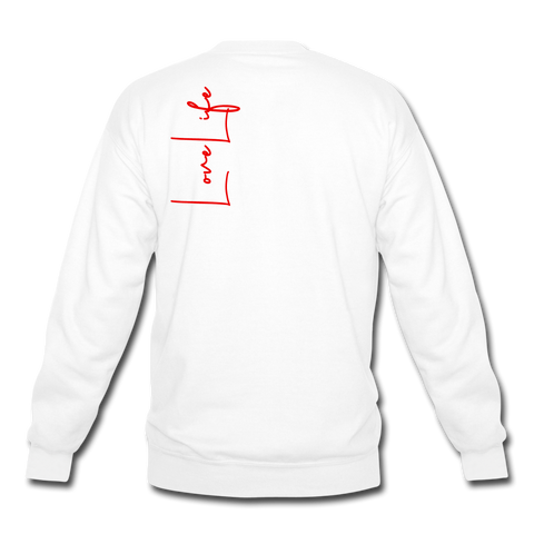 Love Life (Heart) - Crewneck Sweatshirt - white