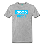 Good Vibes (Cool Blue) - Men's Premium T-Shirt - heather gray