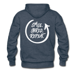 Smile. Shred. Repeat - Men's Premium Hoodie - heather denim