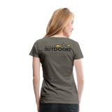 Happy Outdoors - Women's Premium T-Shirt - asphalt gray