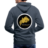 Breathe and Live Good Karma - Men's Premium Hoodie - heather denim
