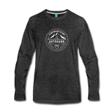 Great Outdoors - Men's Premium Long Sleeve T-Shirt - charcoal gray