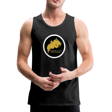 Breathe and Live Good Karma - Men's Premium Tank - black