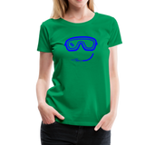 Happy (Goggles) - Women's Premium T-Shirt - kelly green