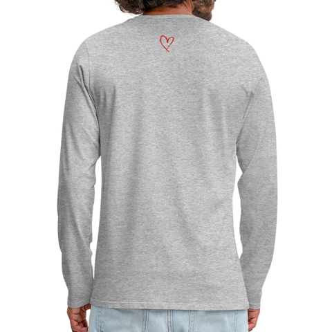 Love Life - Men's Premium Long Sleeve T-Shirt - heather gray