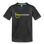 Be Happy Outdoors - Kids' Premium T-Shirt - charcoal gray