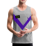 Happy Script - Men's Premium Tank - heather gray