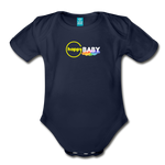 Happy Baby - Organic Short Sleeve Baby Bodysuit - dark navy