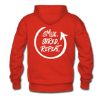 Smile. Shred. Repeat - Men's Premium Hoodie - red
