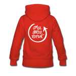 Smile. Shred. Repeat - Women's Premium Hoodie - red