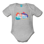 Love & Happiness Forever - Organic Short Sleeve Baby Bodysuit - heather gray