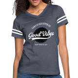 Good Vibes Giver - Women's Vintage Sport T-Shirt - vintage navy/white