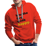 Breathe Live Think Happy - Men's Premium Hoodie - red