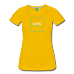 Good Vibes - Women's Premium T-Shirt - sun yellow