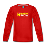 Happy Snow - Kids' Premium Long Sleeve T-Shirt - red