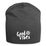 Good Vibes Snow - Jersey Beanie - charcoal gray