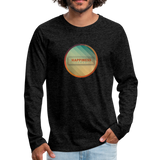 Happiness Lives - Men's Premium Long Sleeve T-Shirt - charcoal gray