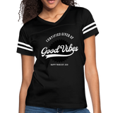 Good Vibes Giver - Women's Vintage Sport T-Shirt - black/white