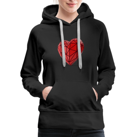 Love Life (Heart) - Women's Premium Hoodie - black