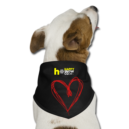 Happy Heart - Dog Bandana - black